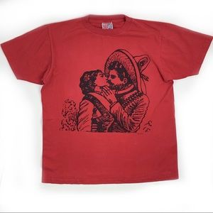Hand Silkscreen Posada Image on T-Shirt fr Mexico